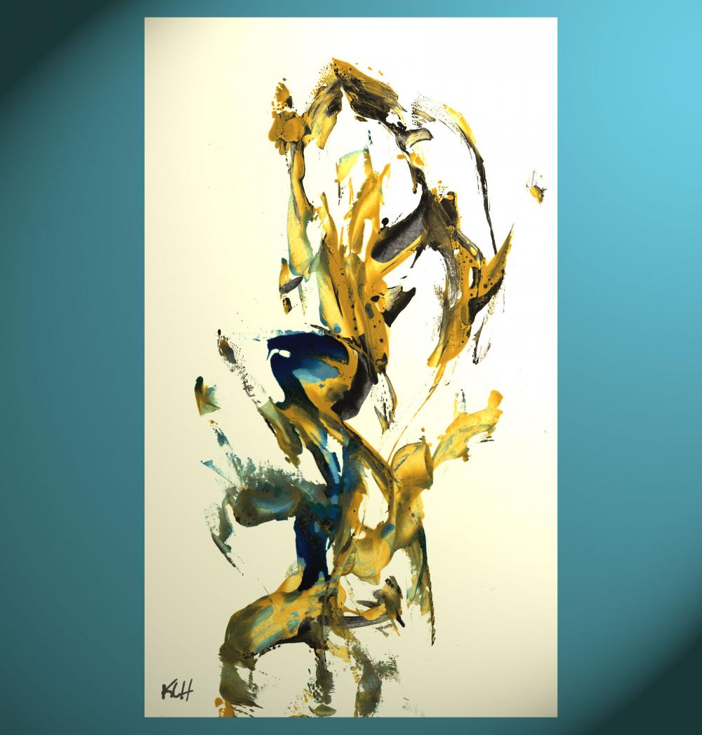 Abstract Expressionism Art -- Elegance Of Time -- Contemporary Modern Abstract Original Painting 616.102010