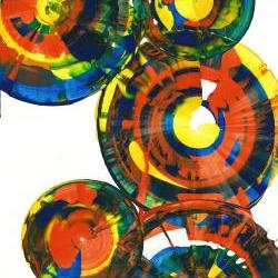 Abstract Expressionism Modern Art Abstract Paintings - Crazy Round Circles -- 864.121811